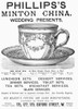 Tea Cup, 1891. /Nenglish Newspaper Advertisement For Phillip'S Minton China, 1891. Poster Print by Granger Collection - Item # VARGRC0090776