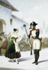 Gaetano Donizetti /N(1797-1848). Italian Composer. Fanny Tacchinardi-Persiani As Adina And Antonio Tumburini As Belcore In Donizetti'S Opera 'L'Elisir D'Amore.' Lithograph, C1835-40. Poster Print by Granger Collection - Item # VARGRC0050154