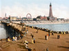 England: Blackpool, C1900. /Na View From The North Pier Of The Beach And Amusement Park At Blackpool, On The Irish Sea In Lancashire, England. Photochrome, C1900. Poster Print by Granger Collection - Item # VARGRC0130754
