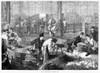 Paris: Les Halles, 1870. /Npoultry Market At Les Halles In Paris, France. Wood Engraving, 1870. Poster Print by Granger Collection - Item # VARGRC0078092