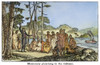 Missionary And Native Americans. /Na Missionary Preaching To Native Americans In The Oregon Territory. Wood Engraving From An American Textbook Of The 1850S. Poster Print by Granger Collection - Item # VARGRC0067155