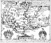 """Virginia Map, 1624. /Njohn Smith'S Map Of Virginia: Line Engraving From His """"Generall Historie Of Virginia"""", 1624. Poster Print by Granger Collection - Item # VARGRC0040625"""