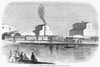 Chicago: Railroad, 1859. /Nthe Illinois Central Railroad Depot In Chicago, Illinois. Wood Engraving, American, 1859. Poster Print by Granger Collection - Item # VARGRC0371196