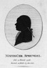 Matthias Sprengel /N(1746-1803). Matthias Christian Sprengel, German Philosopher And Historian. Early 19Th Century Silhouette. Poster Print by Granger Collection - Item # VARGRC0099827
