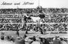 Johnson Vs. Jeffries, 1910. /Namerican Heavyweight Pugilist Jack Johnson (Right) Fighting James J. Jeffries On 4 July 1910 In Reno, Nevada. Poster Print by Granger Collection - Item # VARGRC0170317