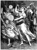 Exodus: Miriam Celebrating. /Nmiriam, Half Sister Of Moses Celebrating The Israelites' Miraculous Passage Of The Red Sea (Exodus 15:20). Wood Engraving, 19Th Century. Poster Print by Granger Collection - Item # VARGRC0031465