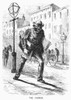 Newspaper Carrier, 1872. /Nwood Engraving, American, 1872. Poster Print by Granger Collection - Item # VARGRC0096923
