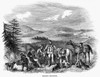 England: Grouse Hunting. /Nwood Engraving, English, 1843. Poster Print by Granger Collection - Item # VARGRC0014022