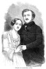 Gilbert-Louis Duprez /N(1806-1896). French Operatic Tenor. With His Daughter, Caroline. Wood Engraving, American, 1852. Poster Print by Granger Collection - Item # VARGRC0354173