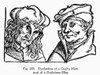 Physiognomy, 1533. /Neyelashes Of A Crafty Man (Left), And Of A Guileless Man. Woodcut, 1533, From Bartolommeo Cocles' 'Physiognomonia.' Poster Print by Granger Collection - Item # VARGRC0097092