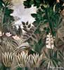 Rousseau: Jungle, 1909. /Nthe Equatorial Jungle. Canvas By Henri Rousseau, 1909. Poster Print by Granger Collection - Item # VARGRC0020132