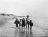 Alaska: Eskimo Children. /Nfive Eskimo Children Wading In The Water In The Bering Sea, Alaska. Photograph, C1905. Poster Print by Granger Collection - Item # VARGRC0121882