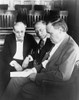 Clarence Darrow (1857-1938). /Namerican Lawyer. Photographed Alongside Attorneys Walter And Benjamin Bachrach During The Trial Of Nathan Leopold And Richard Loeb In Chicago, Illinois, 1924. Poster Print by Granger Collection - Item # VARGRC0526982