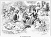 Picnic, 1886. /N'The Watermelon Party.' Line Drawing, 1886. Poster Print by Granger Collection - Item # VARGRC0044177