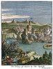 Capture Of Quebec, Canada. /Nthe Capture Of Quebec By The English In 1629. Color Engraving From Louis Hennepin'S 'New Discovery ....' 1698. Poster Print by Granger Collection - Item # VARGRC0008739