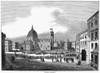 Florence: The Duomo, 1835. /Nthe Cathedral, Or Duomo, Of Florence, Italy. Wood Engraving, English, 1835. Poster Print by Granger Collection - Item # VARGRC0050131