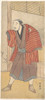 "Onoe Matsusuke as a Servant Standing Beside a House Poster Print by Katsukawa Shunei (Japanese  1762  ""1819) (18 x 24) - Item # MET36772"
