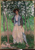 The Stroller (Suzanne Hoschedé  later Mrs. Theodore Earl Butler  1868–1899) Poster Print by Claude Monet (French  Paris 1840–1926 Giverny) (18 x 24) - Item # MET438006