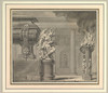 """Classical Scene with a Tomb and Flaming Brazier Poster Print by Gilles-Marie Oppenord (French  Paris 1672  """"1742 Paris) (18 x 24) - Item # MET343098"""
