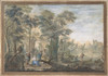 Arcadian Landscape with several Figures and a Statue of Diana Poster Print by Gerard Melder (Dutch  Amsterdam 1693–1754 Utrecht) (18 x 24) - Item # MET387267
