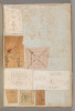 """Page from a Scrapbook containing Drawings and Several Prints of Architecture  Interiors  Furniture and Other Objects Poster Print by Workshop of Charles Percier (French  Paris 1764  """"1838 Paris) (18 x 24) - Item # MET706360"""