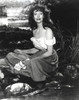 Loretta Young Lady taking a Bath in River Photo Print - Item # VARCEL710020