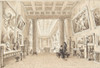 """Interior of Thomas Hopes Picture Gallery  Duchess Street  London Poster Print by William Henry Bartlett (British  London 1809  Š—""""1854 at sea) (18 x 24) - Item # MET362232"""