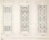 Design for Three Wrought Iron Window Guards Poster Print by Anonymous  British  19th century (18 x 24) - Item # MET386647