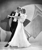 Fred Astaire and Ginger Rogers Ballroom Dancing on Stage in White Dress and Black Suit Photo Print - Item # VARCEL680825