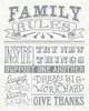 Family Rules II Gray Words Poster Print by Mary Urban - Item # VARPDX31337