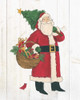 Vintage St Nick III no Words on White Wood Poster Print by Anne Tavoletti - Item # VARPDX27907