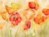 Watercolor Poppy Meadow Spice Landscape Poster Print by Cynthia Coulter - Item # VARPDXRB11873CC