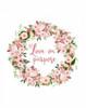 Love on Purpose Pink Wreath Poster Print by Tara Moss - Item # VARPDXTA1906