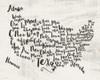 Scripted Map Poster Print by Jo Moulton - Item # VARPDXJM15540