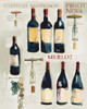 Red Wine Collage on White Poster Print by Michael Clark - Item # VARPDX29804