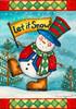 Let it Snow Flag Poster Print by Laurie Korsgaden - Item # VARPDXLKRC3601B