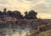 A Book of the Wye 1911 Wilton Bridge nr Ross-on-Wye Poster Print by  Alfred Quinton - Item # VARPPHPDA69042