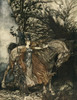 Rhinegold & the Valkyrie 1910 Br nnhilde with horse Poster Print by  A. Rackham - Item # VARPPHPDA68444