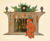 Twas the night before Christmas c.1912 Looking up the chimney Poster Print by  Jessie Willcox Smith - Item # VARPPHPDA69543