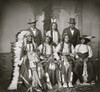 """Group of Sioux Indians """"Spotted Tail""""  Standing: Joe Merrivale; Young Spotted Tail; Antoine Janis; Seated: Touch-the-Clouds; Little Big Man; Black Cool; last two are rapoves Poster Print - Item # VARBLL058751350L"""
