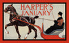 A man rides in a horse-drawn sleigh. Poster Print by  Edward Penfield - Item # VARBLL058741295x