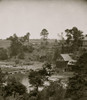 Jericho Mills, Virginia. Looking up North Anna river from south bank, canvas pontoon bridge and pontoon train on opposite bank, May 24, 1864 Poster Print - Item # VARBLL058753403L