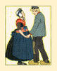 """A Dutch man and woman look upon each other.  The illustration is taken from the book, """"Tales Told of Holland"""" from 1923. Poster Print by Maud & Miska Petersham - Item # VARBLL0587410310"""
