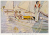 Sailing: On A Yacht In France  1930S Poster Print By Mary Evans Picture Library - Item # VARMEL10019061