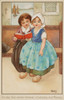 Two Children In A Church By Florence Hardy Poster Print By Mary Evans/Peter & Dawn Cope Collection - Item # VARMEL10267416
