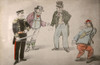 Japanese Anti-Chinese Propaganda - John Bull And Uncle Sam Poster Print By Mary Evans / Grenville Collins Postcard Collection - Item # VARMEL11018188