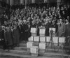Congress Gets Huge Petition For Reduction Of Federal Tax On Earned Incomes In Dec. 1929. The Petition Was Received By Chairmen Of The House And Senate Finance Committees. In The Center Of The Photograph History - Item # VAREVCHISL040EC747