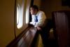 President Barack Obama Looks Out At The Australian Landscape From Air Force One History - Item # VAREVCHISL040EC150