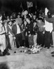 Segregationist Protest. White Students Burn Integration Literature To Protest The Enrollment Of An African American History - Item # VAREVCHISL033EC705