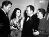 1939 Spencer Tracy Presents The Best Actress Oscar To Vivien Leigh As Thomas Mitchell And Fay Bainter Look On History - Item # VAREVCSBDOSPIEC018